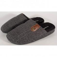 Papuci de casa negri pentru barbati/barbatesti (cod 192-180944)