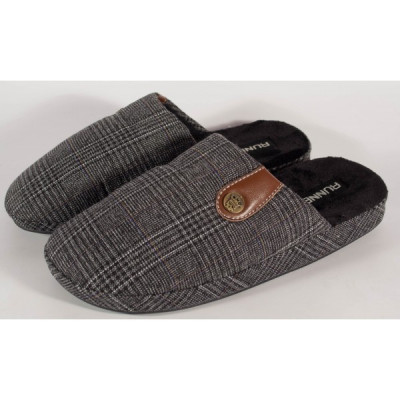 Papuci de casa negri - 192-180944 foto