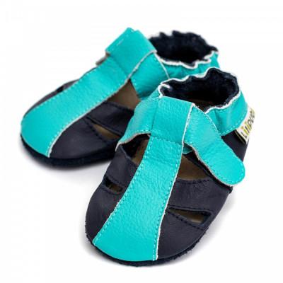 Sandale cu talpa moale Liliputi Ocean Breeze foto