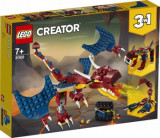 LEGO Creator 3 in 1, Dragon de foc 31102