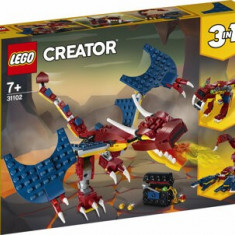 Cumpara ieftin LEGO Creator 3 in 1, Dragon de foc 31102