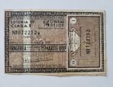 Bilet LOTO 15 MAR 1939 Clasa l, Romania 1900 - 1950