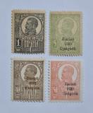 ROMANIA 1919 - 1920 FERDINAND UZUALE SUPRATIPAR ZIARISTI 4 MARCI NECIRCULATE, Nestampilat