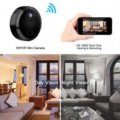 Camera mini IP HD WiFi 1080P cu Infra-Rosu si Night Vision