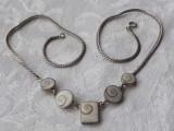 COLIER argint SCOICA piatra OCHIUL LUI SHIVA superb ELEGANT vintage SPLENDID