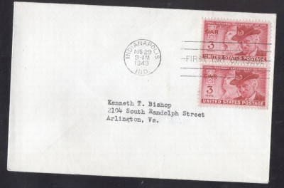 United States 1949 Veterans meeting x 2 FDC K.507 foto