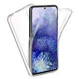 Husa 360 (fata+spate) silicon transparent pentru Samsung S20 Plus