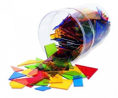 Poligoane colorate - set 450 buc PlayLearn Toys foto
