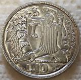 Moneda 10 LIRE - SAN MARINO, anul 1973 *cod 1688 UNC - HELCULE, Europa, Aluminiu