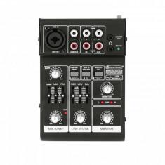 Mixer pentru inregistrare cu 2 canale si USB, Omnitronic MRS-502USB