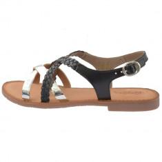Sandale dama, din piele naturala, KicKers, 708851-50-01-134, negru