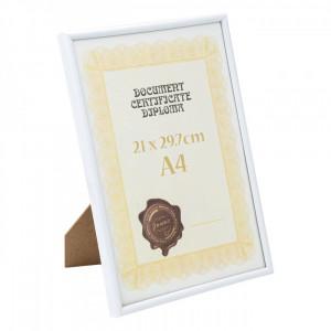 Rama foto, model A4 documente, 29,7×21 cm, alb