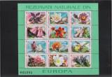 ROMANIA 1987 REZERVATII NATURALE  Flora si Fauna  2 minicoli cu cate 9 Tb. MNH**