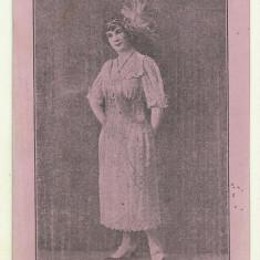 Cp Romania : Artista - cca 1910