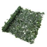 Gard artificial Hedera Mix, 150 x 300 cm, textil peliculizat, Verde, Oem