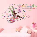 Sticker decorativ, flower fairy 170 cm, 71STK