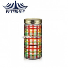 Recipent condimente din sticla pictata cu capac Peterhof PH10032 1.7L