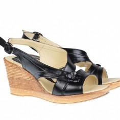 Sandale dama din piele naturala, cu platforma - S10N