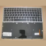 Tastatura laptop noua LENOVO Z400 Silver Frame Black BACKLIT(For WIN8) US