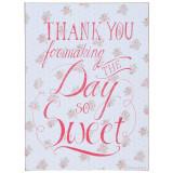 Tablou suspendabil cu mesaj motivational Thank You 30 cm x 40 cm Elegant DecoLux