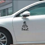 Cumpara ieftin Set 2 x Sticker Auto Decorativ Autocolant, Dakar, Negru mat, 40 x 30 cm