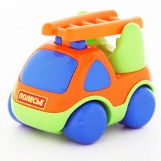 Masina pompieri pentru copii mici - Carat, 12x9x8 cm, Polesie