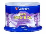 Mediu optic Verbatim DVD+R DL 8.5GB 8x 50 bucati argintiu mat