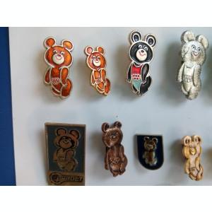 Colectie insigne Ursuletul Misa  insi gna  Olimpiada Moscova 1980  olimpic