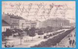 CARTE POSTALA ARAD - PIATA ANDRASSY CIRUCLATA - 1907, Circulata, Printata