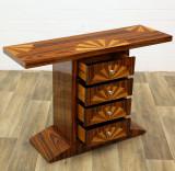 Consola Art Deco din lemn masiv furniruit cu patru sertare CAT-AD-Drawer-CONSOLE