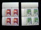 Uzuale 3 R ,serie neuzata MNH in bloc de 4, L.P. 1173, 1986, Nestampilat
