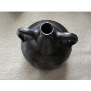 Ceramica neagra gravata.Ulcior din Wachau Valley Danube Austria.D 20 cm/927 gr.