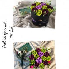 Aranjamente flori din sapun