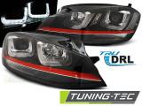 Faruri compatibile cu VW GOLF 7 12-17 U-TYPE Negru WITH Rosu LINE GTI LOOK
