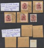 ROMANIA 1945 Ardealul de Nord Oradea I set porto 5 valori 4 cu stampila Prima Zi