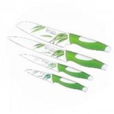 Set cuțite colorate din inox cu înveliș ceramic și suport magnetic inclus, Ertone, 5 piese