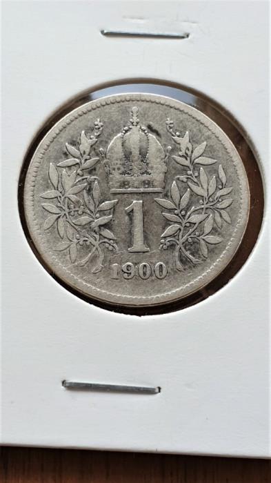Austria 1 Corona - Franz Joseph I 1900, Ag .835