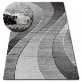 Covor Shadow 8595 vizon si alb, 80x150 cm, Polipropilena