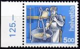 Timbre nestampilate ELVETIA - cca.200 fr. valoare nominala, Posta, Nestampilat
