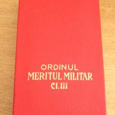MCP1 - DECORATIE MILITARA COMUNISTA - ORDINUL MERITUL MILITAR CLASA III + BONUS!