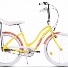 Bicicleta Pegas Strada 2 ALU 3S 2017, Cadru 17inch, Roti 26inch, 3 Viteze (Galben)