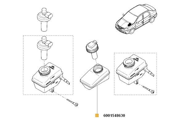 Rezervor Lichid Frana Logan Renault 6001548630
