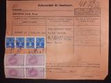 D24 adeverinta de inminare 1936 cu timbre fiscale, Stampilat
