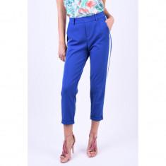 Pantaloni Vascoza Vero Moda Maya Loose Panel Albastru