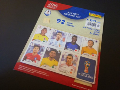 Set complet sigilat update stickere Panini World Cup 2018 Russia foto