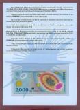 Romania 1999 - folder 2000 lei, eclipsa