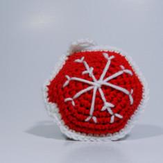 Glob Craciun Handmade Crosetat Multicolor 5 x 5cm