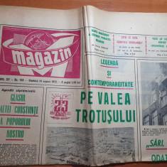 magazin 14 august 1971-art. si foto cabana balea lac,combinatul fibre savinesti