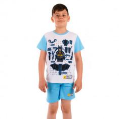 Pijama baieti Lego Batman Gadgets alba cu bleu