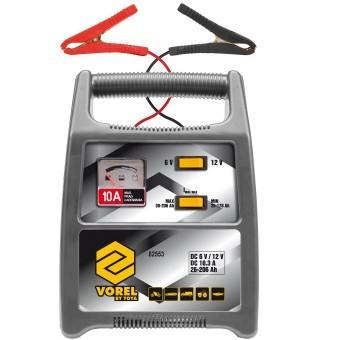 Redresor pentru baterii auto, Vorel 82553, 10A, 26-206Ah foto